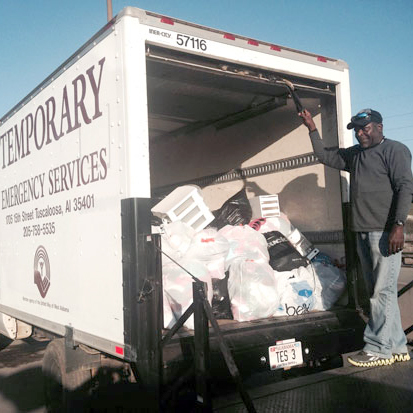 stuff a truck donations temporary emergency services